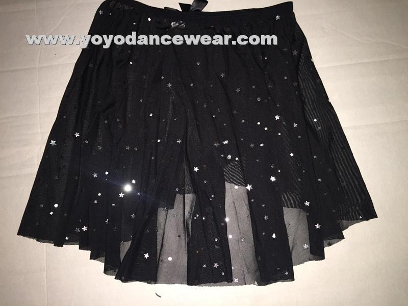b5ff9d762b Girl's Star Shinny Elastic Mesh Pull-On Skirt